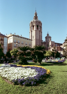 Main town square in Valencia